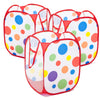 Image of Babies & Kids Polka Dot Pop-Up Storage Hamper (Set of 3) - eWonderWorld