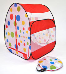 Red Polka Dot Tent w/ 100 Non-Toxic Rainbow Invisiballs