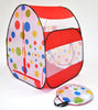 Image of Red Polka Dot Tent w/ 100 Non-Toxic Rainbow Invisiballs - eWonderWorld