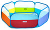 Image of Rainbow Hexagon Playpen w/ 100 Crush-Proof Non-Toxic Rainbow Invisiballs Ball Pit Balls - eWonderWorld