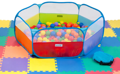 Rainbow Hexagon Twist Playpen - eWonderWorld