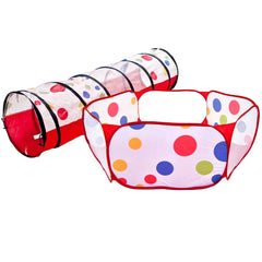 Polka Dot Hexagon Playpen & Polka Dot Tunnel - eWonderWorld
