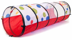Image of Jumbo Polka Dot Kids Play Tunnel w/ Safety Meshing
