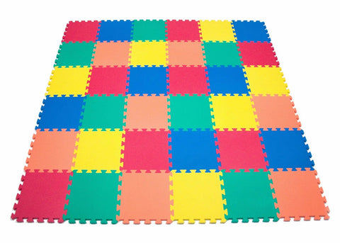 Non-Toxic (5 Colors) Wonder Mats: 36 Pieces - eWonderWorld