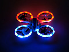 Image of Wonder Chopper Sky Patroller LED Stunt Drone Quadcopter