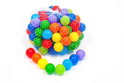 Wonder Playball Non-Toxic 100 Phthalate Free Crush Proof 2.3 Inch Quality Non-Recycled Pit Balls for Kids w/ Net Tote 8 Colors - Red, Orange, Yellow, Green, Blue, Light Blue, Lime Green and Purple
