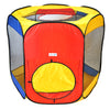 Image of Six Sided Hexagon Play Tent w/ 100 Crush-Proof Rainbow Invisiballs - eWonderWorld
