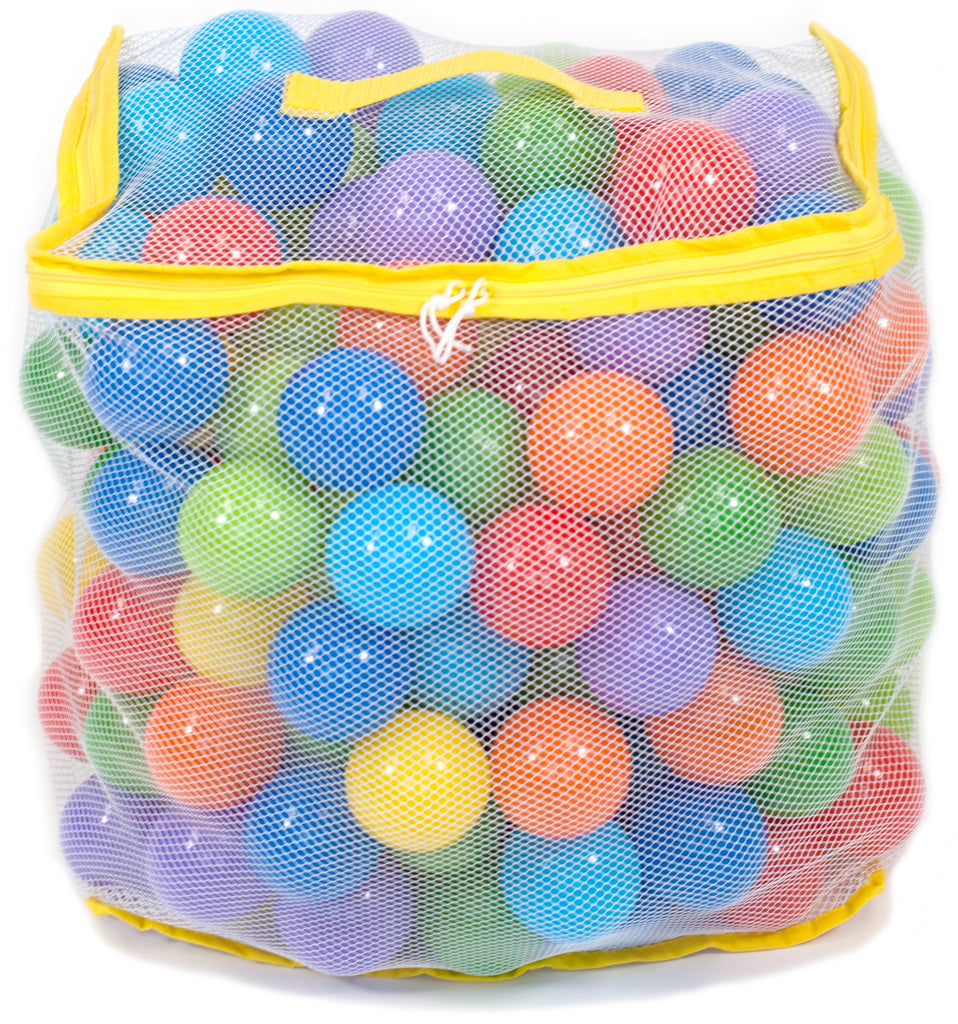 200 Non-Toxic Crush-Proof Wonder Play Balls w/ Rainbow Hexagon Playpen - eWonderWorld