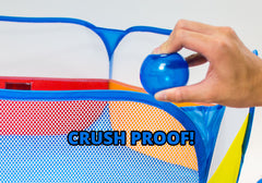 Rainbow Hexagon Playpen w/ 100 Crush-Proof Non-Toxic Rainbow Invisiballs Ball Pit Balls