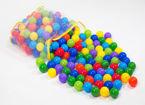 200 Non-Toxic Crush-Proof Wonder Play Balls w/ Polka Dot Hexagon Playpen - eWonderWorld