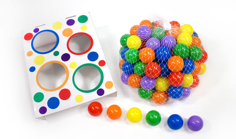 Wonder Playball 100 Non-Toxic Phthalate Free Play Ball Set with Toss Zone Game - eWonderWorld
