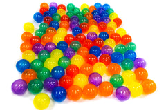 Polka Dot Hexagon Playpen w/ 100 Rainbow Invisiballs Ball Pit Balls