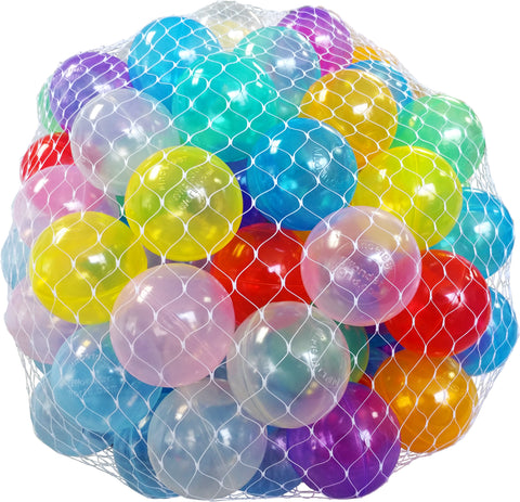 Wonder Invisiball 100 Clear Ball Pit Balls w/ Toss Zone: 6 Colors