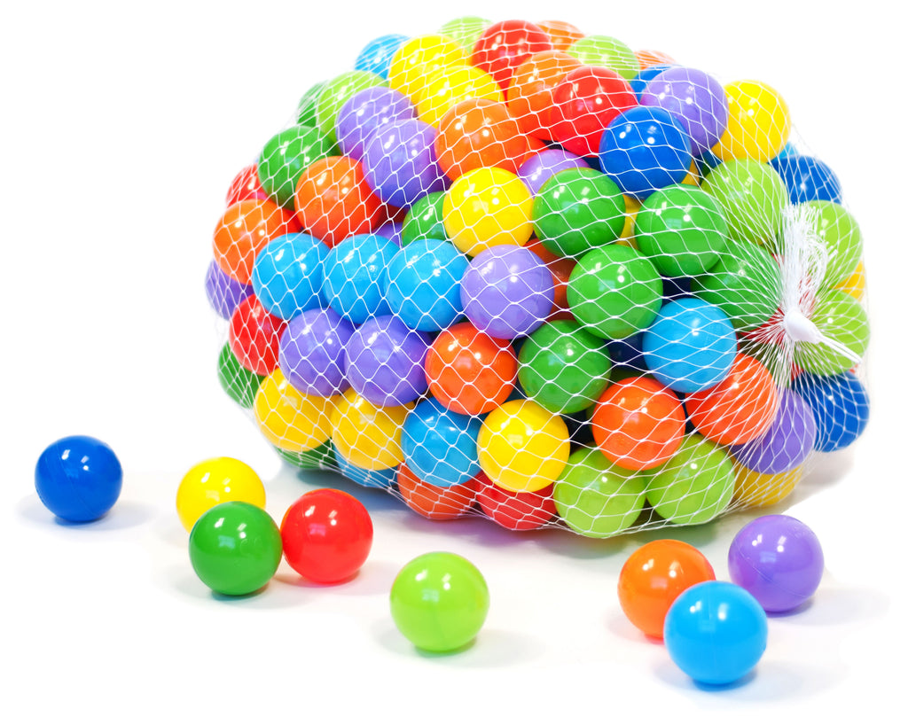 Wonder Playball 200 Ball Pit Balls Net Edition: 8 Colors - eWonderWorld