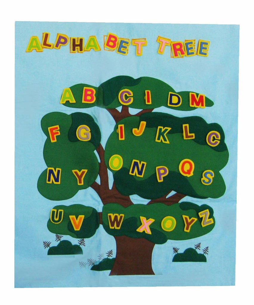 "Handmade ""Alphabet Tree"" Classroom Soft Toy Wall Hanging - eWonderWorld"