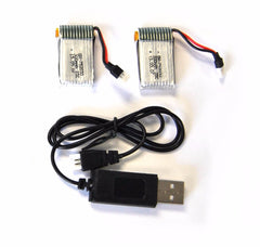 Wonder Quadcopter RC Drone Spare Parts:  2 Batteries & Charging Cable - eWonderWorld