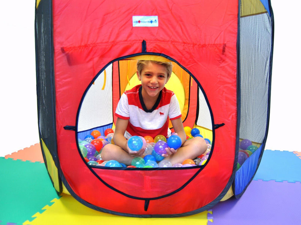 Six Sided Hexagon Twist Tent Generation 3 w/ Safe Design & Ball Stopper - eWonderWorld