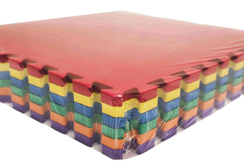 Large Rainbow Playmats (Set of 6) - eWonderWorld