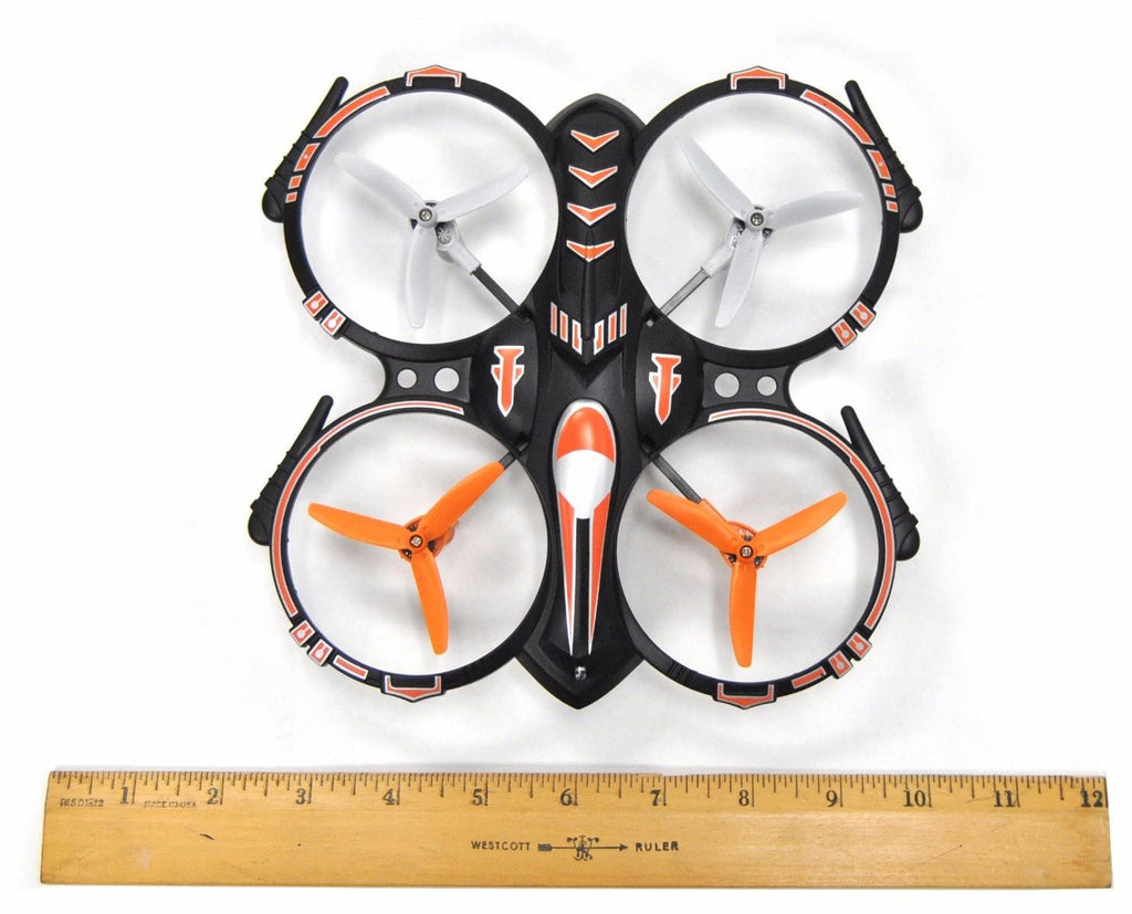 RC Stunt Drone Quadcopter : 360 Flip Function, 2 Batteries, 2 USB Chargers, Landing Pad & Spare Parts - eWonderWorld