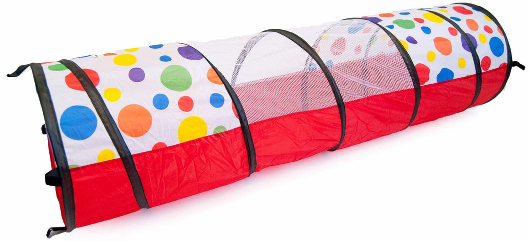 ... Polka Dot Teepee u0026 Square Play Zone Twist Tent w/ Tunnel Safety Meshing ...  sc 1 st  eWonderWorld & Polka Dot Teepee u0026 Square Play Zone Twist Tent w/ Tunnel Safety ...