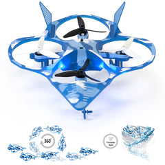 Image of RC Stunt Drone Quadcopter Fighter Jet w/ 360 Flip: Tornado, 2.4Ghz 6-Axis Gyro 4 Channels, 3 Blade Propellers