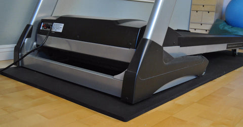 Black No Edging Treadmill Mat w/ Edging: Exercise Equipment Floor Protection - eWonderWorld