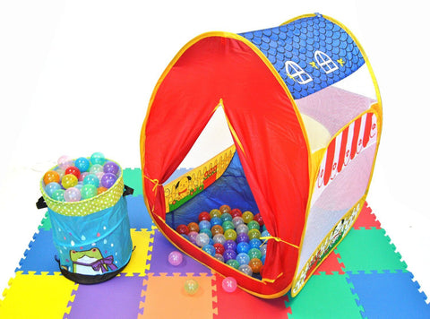 Wonder Playball 100 Invisiball Crush Proof Clear Ball Pit Balls: 6.5cm, 10 Colors - eWonderWorld
