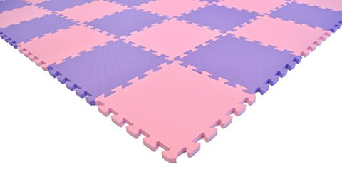 Wonder Mat Pink and Purple Non-Toxic Interlocking Foam Mats - Fairy Tale Edition - eWonderWorld