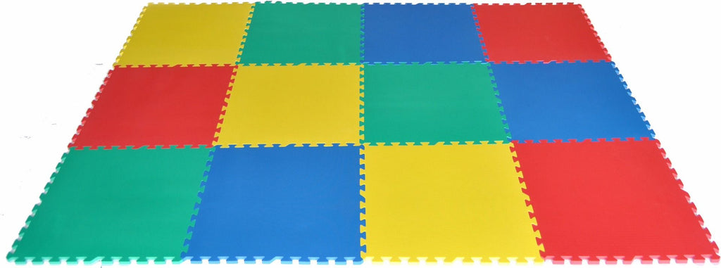 48 Square Feet Large Interlocking Foam Mat Set - eWonderWorld