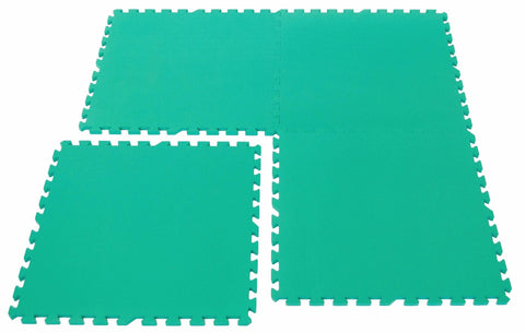 4 Large Green Interlocking Foam Mats