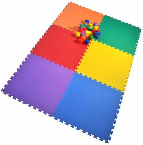 Large Rainbow Playmats (Set of 6)