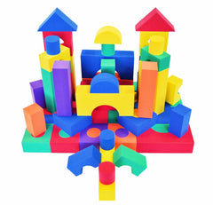 Wonder Blocks 70 Piece Non-Toxic Foam Blocks - eWonderWorld