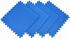 Non-Toxic Large BLUE Wonder Mats Interlocking Foam Mats: Set of 4 - eWonderWorld
