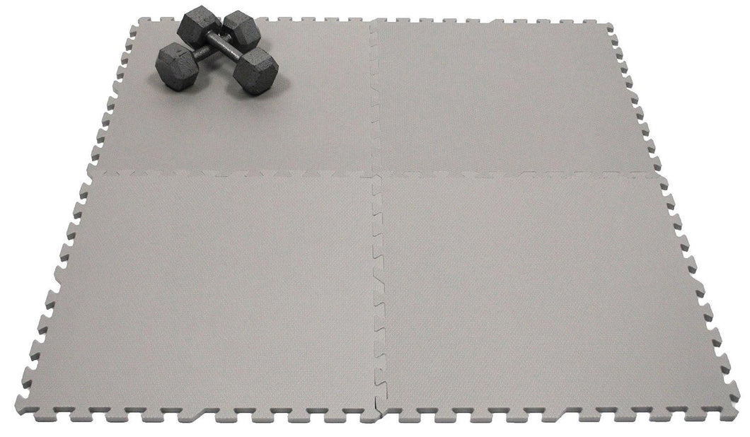 nontoxic large gray foam floor mats set of 4
