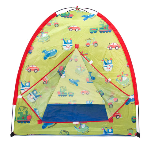Transportation Play Tent w/ 100 Crush-Proof Non-Toxic Rainbow Invisiballs - eWonderWorld