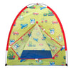 Image of Transportation Play Tent w/ 100 Crush-Proof Non-Toxic Rainbow Invisiballs - eWonderWorld