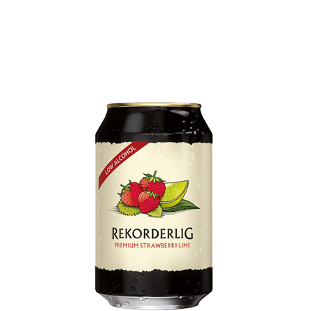 Rekorderlig Premium Strawberry & Lime Low Alcohol 0.2% - 330ml