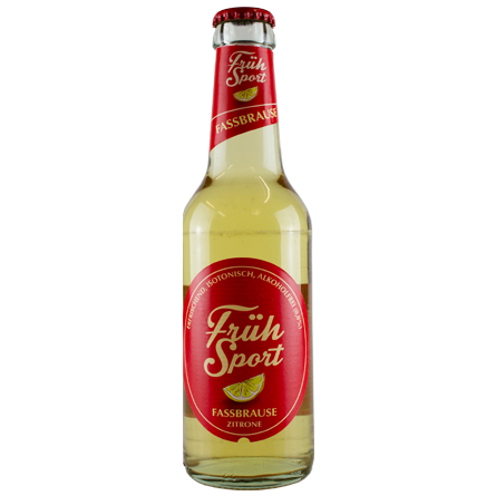 LightDrinks - Früh Sport Fassbrause Zitrone Alcohol Free 0.0% - 330ml