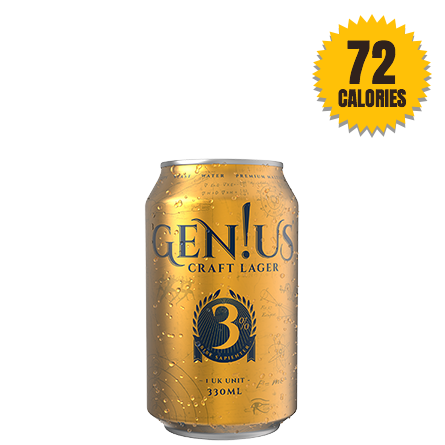LightDrinks - Gen!us Craft Lager 3% - 330ml