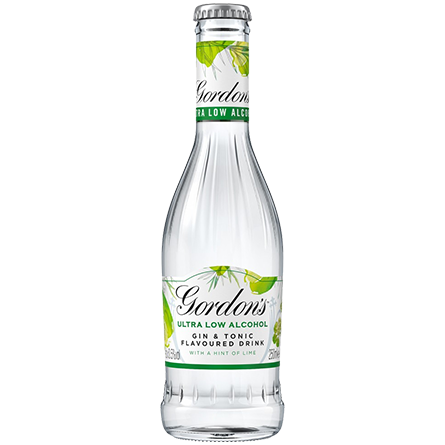 LightDrinks - Gordon's Ultra Low Alcohol Gin & Tonic Lime 0.5% - 250ml