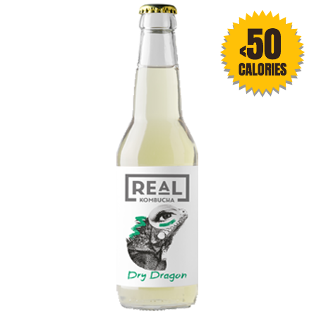 LightDrinks - 12 x Real Kombucha Dry Dragon - 330ml