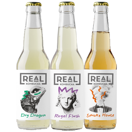 LightDrinks - 24 x Real Kombucha Mixed Case - 330ml