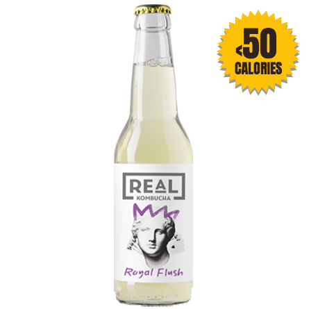 LightDrinks - 12 x Real Kombucha Royal Flush - 330ml