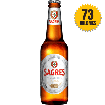 LightDrinks - Sagres Zero Alcohol Free Beer 0.5% - 330ml