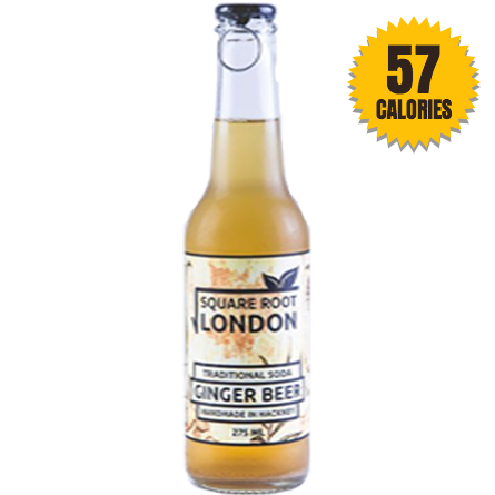 LightDrinks - Square Root London Ginger Beer Soda - 275ml