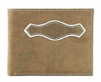 Lucky Trails Men's Distressed Leather/Contast Stitching Bi-fold Western Wallet