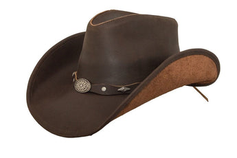 Lucky Trails Rocky Top Brown Shapeable Handmade Leather Western Cowboy Hat