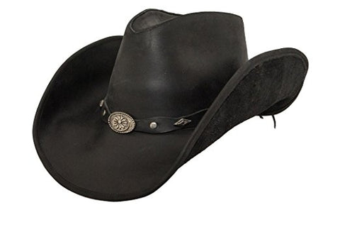 Lucky Trails Rocky Top Black Shapeable Handmade Leather Western Cowboy Hat