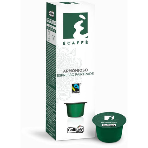 Caffitaly Armonioso Fairtrade Espresso 10 Coffee Capsules 8032680750144