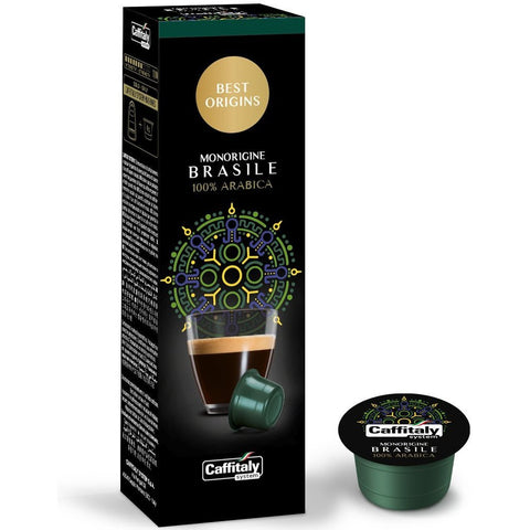 Caffitaly Monorigine Brasile Arabica Espresso Coffee Capsules (1 Pack of 10)